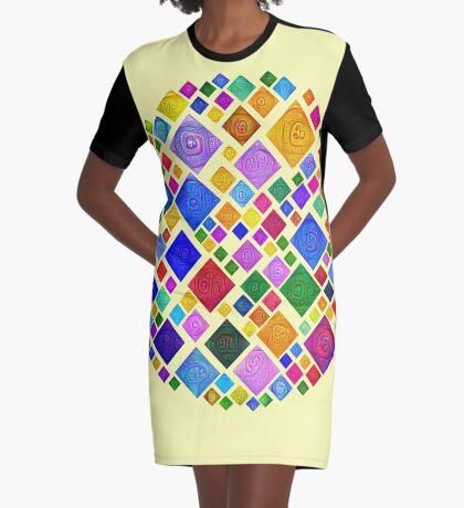 #DeepDream Color Squares Square Visual Areas 5x5K v1448810610 Transparent background Graphic T-Shirt Dress
