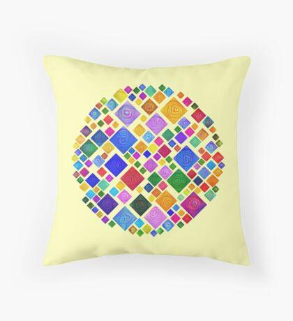 #DeepDream Color Squares Square Visual Areas 5x5K v1448810610 Transparent background Throw Pillow