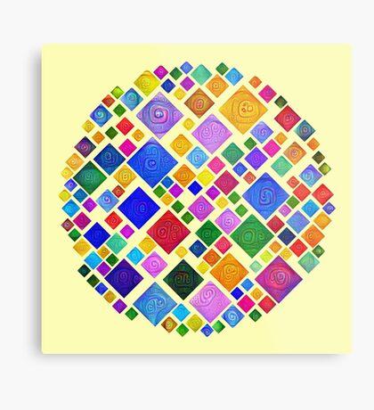 #DeepDream Color Squares Square Visual Areas 5x5K v1448810610 Transparent background Metal Print