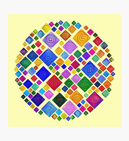 #DeepDream Color Squares Square Visual Areas 5x5K v1448810610 Transparent background Photographic Print