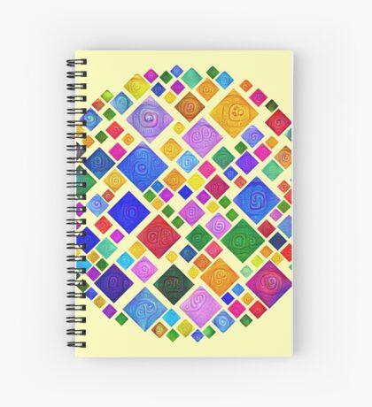 #DeepDream Color Squares Square Visual Areas 5x5K v1448810610 Transparent background Spiral Notebook