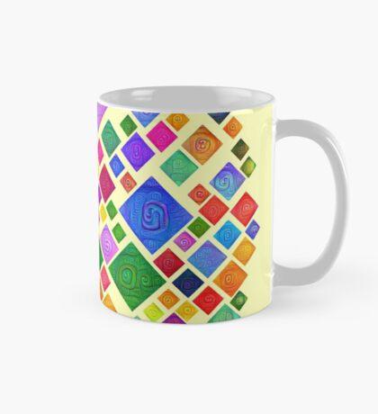 #DeepDream Color Squares Square Visual Areas 5x5K v1448810610 Transparent background Mug