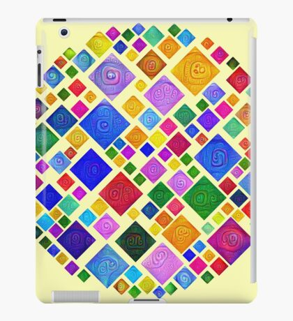 #DeepDream Color Squares Square Visual Areas 5x5K v1448810610 Transparent background iPad Case/Skin