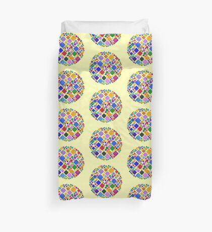 #DeepDream Color Squares Square Visual Areas 5x5K v1448810610 Transparent background Duvet Cover