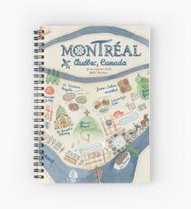 Karte von Montreal, Kanada Spiralblock