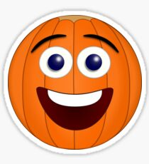 Cute Smiling Pumpkin Sticker