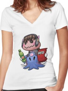 Mimikyu D.Va Women's Fitted V-Neck T-Shirt