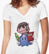 Mimikyu D.Va Women's Fitted V-Neck T-Shirt
