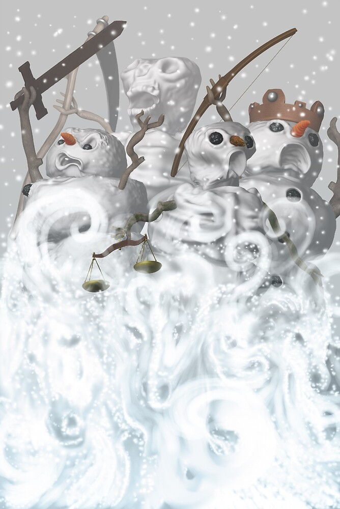 Four Snowmen of the Apocalypse by mdkgraphics