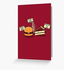 Occupy Stomach Greeting Card