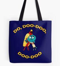 Hot Dog Guy and Gumball Awkwardly Hugging Tote Bag