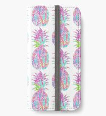 Lily print pineapple iPhone Wallet/Case/Skin