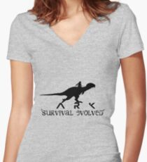 ARK Survival Evolved Women's Fitted V-Neck T-Shirt