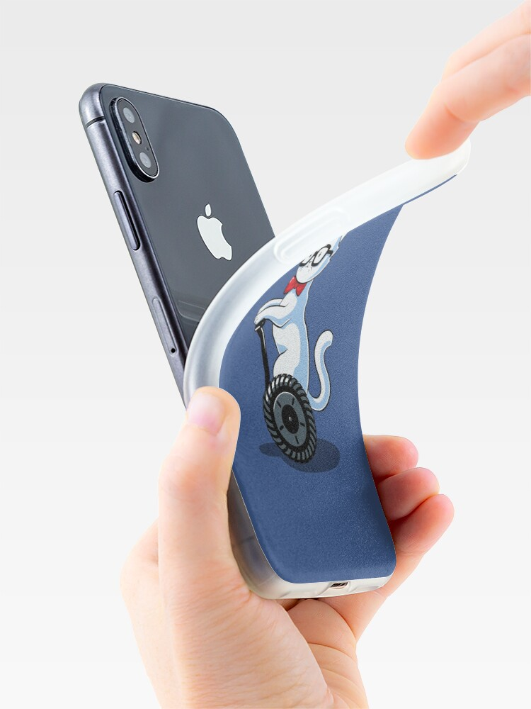 Alternate view of White and Nerdy iPhone Case & Cover
