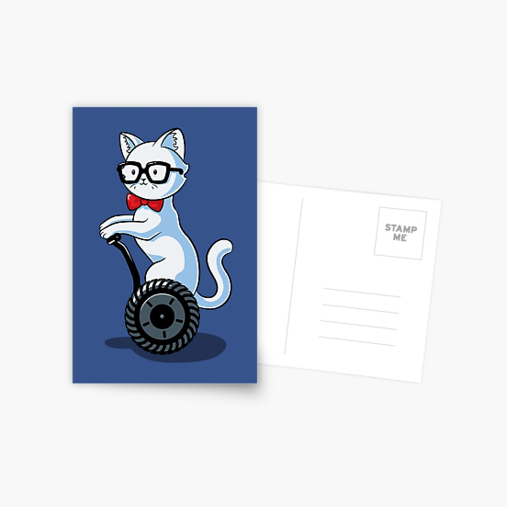 White and Nerdy Postcard