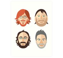 Trey, Fish, Mike, Page as Vector Characters Art Print