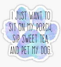 Front Porch Dog, Blue Sticker