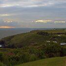 Sunset over Cornwall by Steve plowman