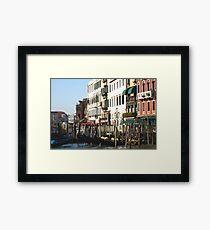 gondolier office Framed Print