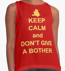 Keep Calm and Don't Give a Bother Contrast Tank