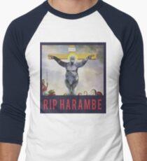 RIP Harambe - Son of God Men's Baseball ¾ T-Shirt