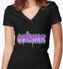 QUIZNAK Women's Fitted V-Neck T-Shirt