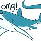 Thresher shark - OMG! by Jen Richards