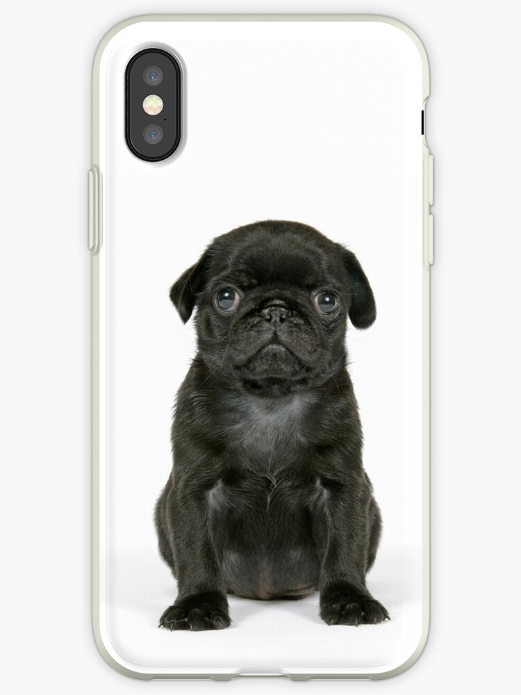 wholesale dealer a1023 63852 'Cute Black Pug puppy' iPhone Case by ArdeaOnline