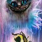 Alice and the Cheshire cat by Rachel Kelly