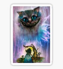 Alice and the Cheshire cat Sticker