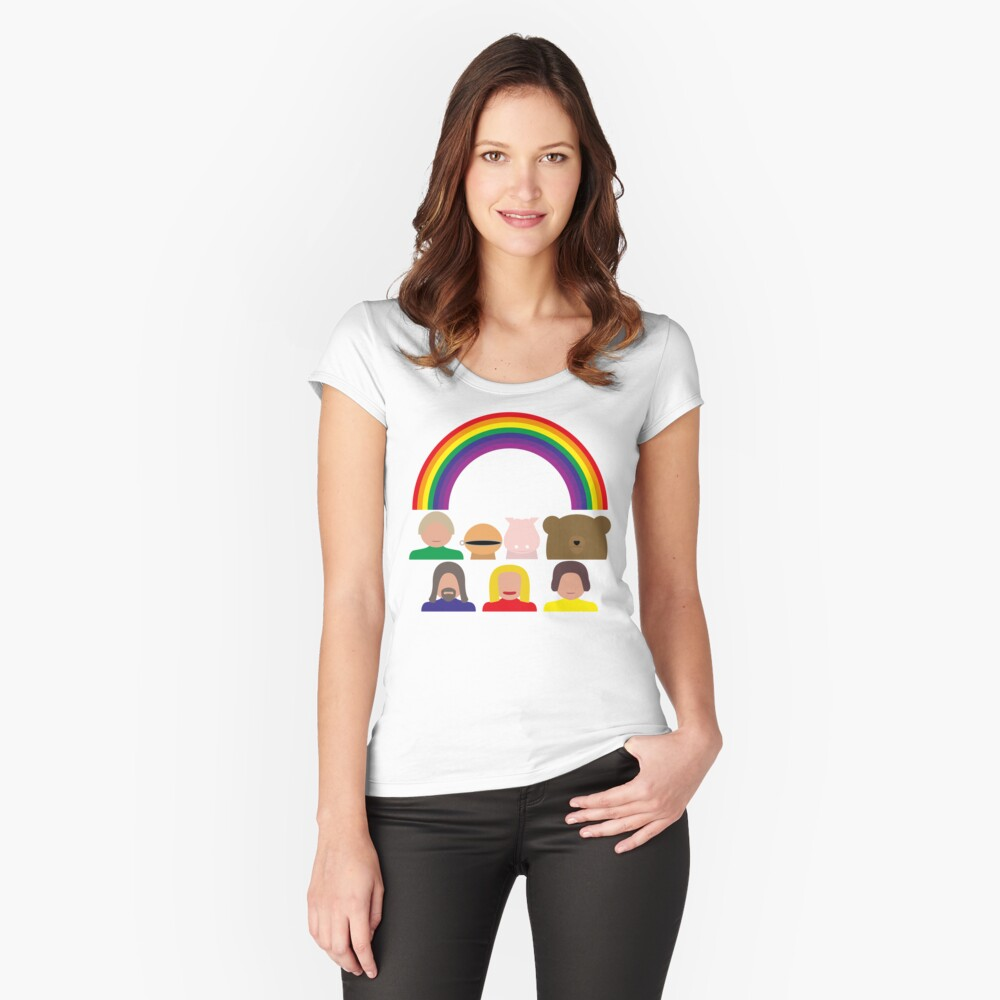 NDVH Rainbow Fitted Scoop T-Shirt