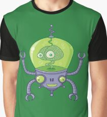 Brainbot Robot with Brain Graphic T-Shirt