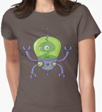 Brainbot Robot with Brain Womens Fitted T-Shirt