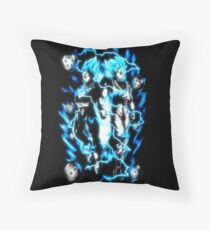 Goku & Vegeta Super Saiyan GoD/Blue Throw Pillow