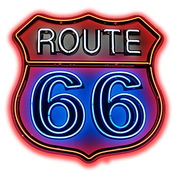 Route 66 Neon sign by thatstickerguy