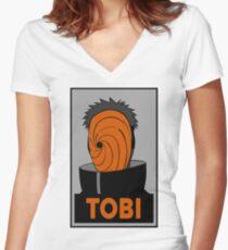 Tobi  Women's Fitted V-Neck T-Shirt