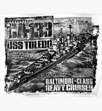 Heavy cruiser Toledo Poster
