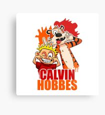 Calvin and Hobbes Time Metal Print