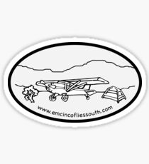 Emcinco Flies South Sticker
