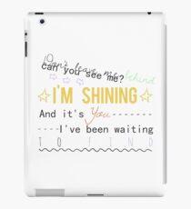 years & years - shining lyrics iPad Case/Skin