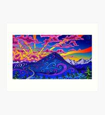 Psychedelic Landscape Art Print
