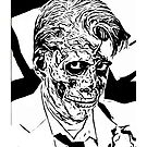inked zombie businessman by gigglingnewt