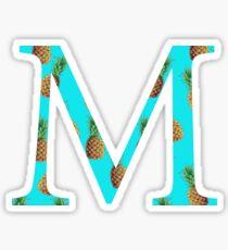 Mu Pineapple Letter Sticker