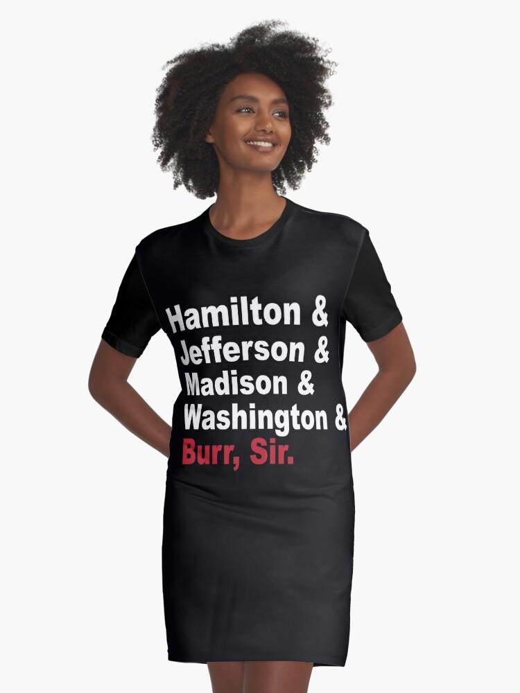 414a1b454 Vestido camiseta «Padres fundadores y más- Hamilton» de trieduntrue ...