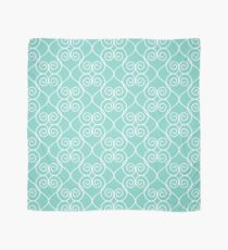 White & Mint Hearts Scarf