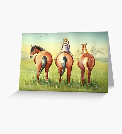 Pony Tails Greeting Card