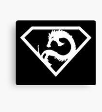 Super Dragon Symbol Canvas Print
