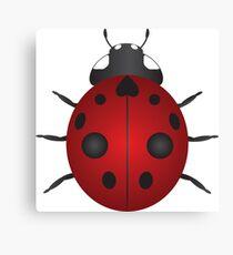 Red Ladybug Color Illustration Canvas Print