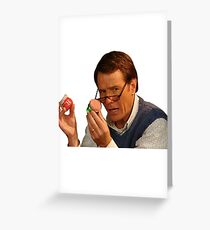 Hal Holding Jars Greeting Card