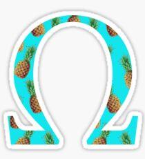 Omega Pineapple Letter Sticker